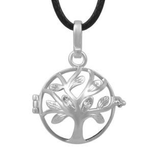 Tree and Flower Lava stone Pendant