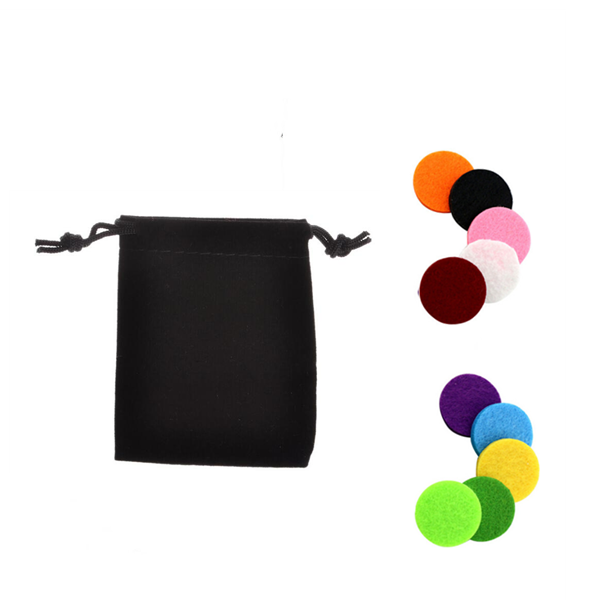 Black Pouch with Felt Pads